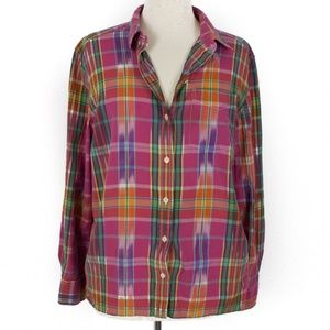 Lauren Jeans Co Medium Womens Button Up Plaid Top